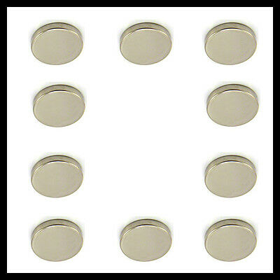 10 x Super Strong Rare-Earth Neodymium Magnets 8mm x 2mm Electrically conductive
