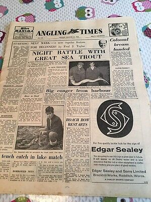 Vintage Angling Times Friday August 17 1962 Rare Item