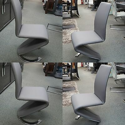 New Stunning Modern Contemporary Lucy Z Dining Chair In 3 Colours - Padded Chair