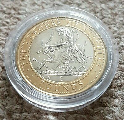 Gibraltar Labours of Hercules £2 Two Pound Coin 1998 The Ceryneian Hind