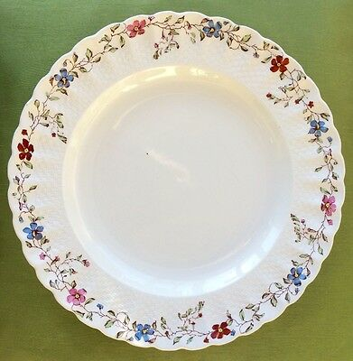 "Delicate Vintage Copeland Spode Wicker Dale 10"" Dinner Plate"