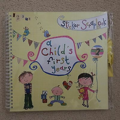 Childs First Years Record Book - NEW - Sticker Scrapbook - New Baby Shower/Gift