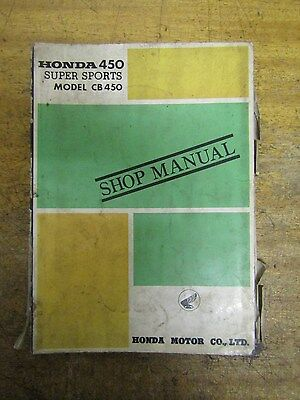Honda CB450 Super Sports Shop Manual genuine