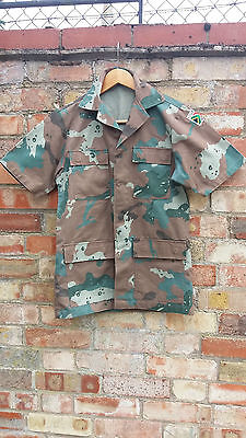 Sandf South African Soldier 2000 Camo Short Sleeve Shirt Jacket Small
