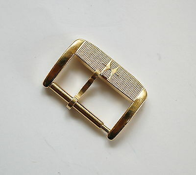 16mm Vintage HAMILTON yellow gold plated watch buckle