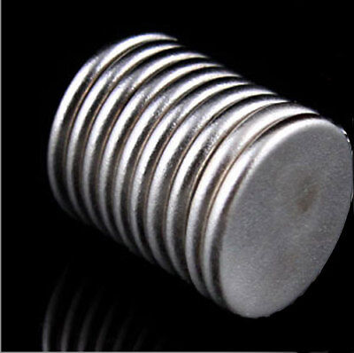 10 x Super Strong Rare-Earth Neodymium Magnets 8mm x 1mm Electrically conductive