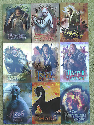 The Hobbit Desolation of Smaug Character Biography 9 Card set CB20-29