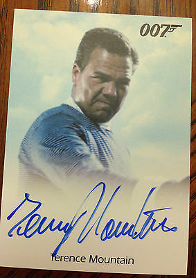 James Bond Archives 2014 Autograph Card Terence Mountain