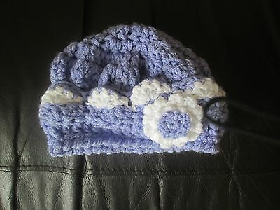 girls hand knitted wool hat age 1-2 years