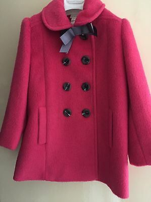Girls Monsoon Dark Pink Coat, Age 5-6