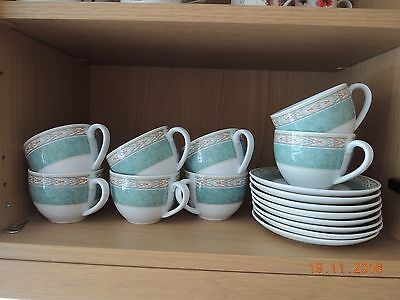 wedgewood home aztec cups and saucers x 8
