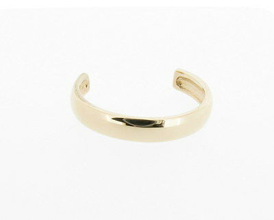 9ct Yellow Gold Band Toe Ring - NEW Hand Finished Made in England *RRP £44.99*
