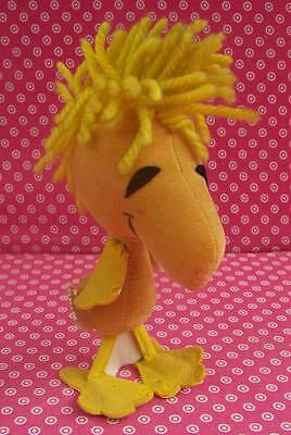 "Vintage 1972 United Features Syndicate 6"" Woodstock Stuffed Toy Animal Japan"