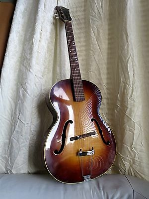 Beautiful Hofner Congress Acoustic Archtop Guitar Sunburst Johnny Cash 1962