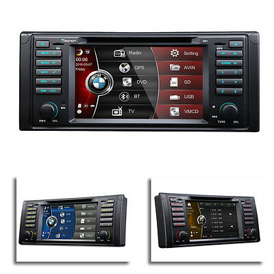 """7"""" Multimedia Touch Screen Car DVD Player GPS Support DVB-T DAB+ for BMW E39"""