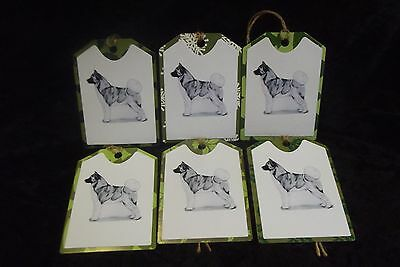 Akita Set of 6 Christmas Gift Tags Handcrafted by Curiosity Crafts