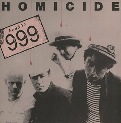 "999 - Homicide : Very Rare Classic 7"" Single"