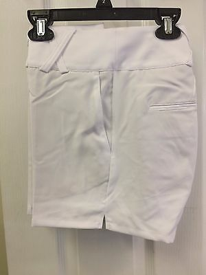 Adidas Golf Womens Ladies Climalite Stretch Flat Front Shorts White Sizes Vary