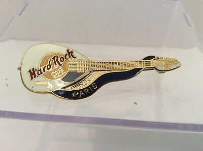 Hard Rock Cafe Guitar Pin - Paris - Mandolin - Ships Free