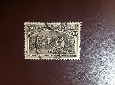 USA 1893 Columbus Expo 10c Brown SG242a Used Small Faults