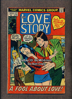 1 HTF 1974 Our Love Story #27 G/VG Romance Comic Marvel First Print