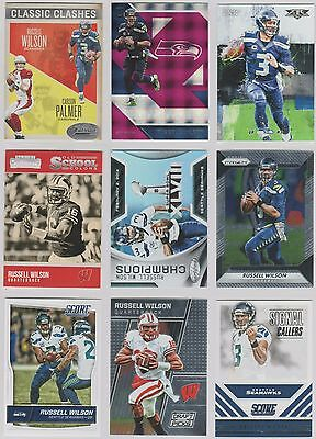 Russell Wilson - 9 Card Lot - No Duplicates - Seahawks