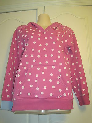JOULES GIRLS Pink Spotted Hoodie Age 11-12