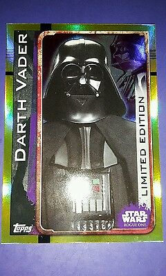 topps star wars rogue one limited edition darth vader