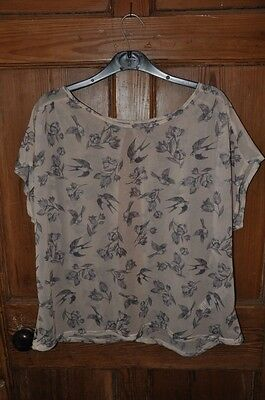 New Look swallow print top size 18