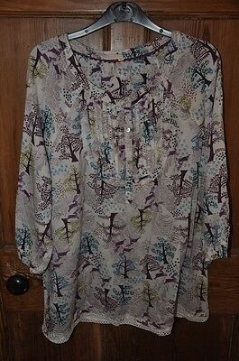 White Stuff woodland stag print top size 16