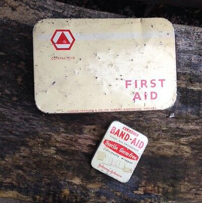 Collectable Vintage First Aid & Band Aid Tins