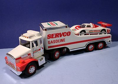 1989 Servco Gasoline Toy Truck with Racer
