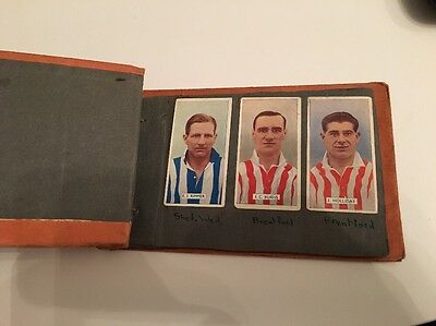 Scrapbook Of Assorted Football Cigarette Cards