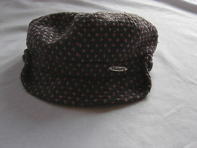 Gorgeous Girl's Pink and Grey Peaked 'flat' cap by BILLABONG