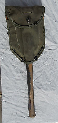 RARE WW 2 US Army USMC Airborne Soldiers Folding Shovel With Cover, 1943, NICE!!