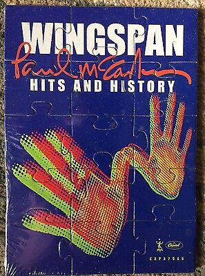 RARE Paul McCartney And Wings Wingspan Promo Puzzle 2001 Sealed Mint Beatles