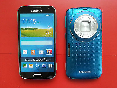 Samsung Galaxy K ZOOM in Blau Handy DUMMY Attrappe - Requisit, Deko, Modell