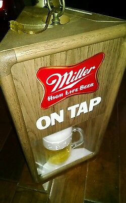 Vintage New Old Stock Miller High Life Hanging Rotating sign