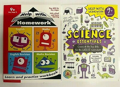 KS2 Maths English & Science Workbooks pack of 3 Ages 9+ Primary Year 5 & 6 New