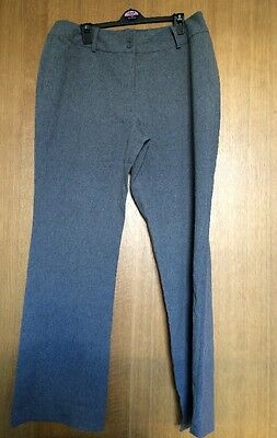 Ladies Grey Work Trousers Size 16, Bootleg Style