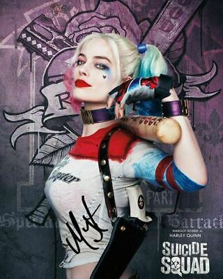 Margot Robbie Harley Quinn Suicide Squad Signed Photo Autograph Reprint