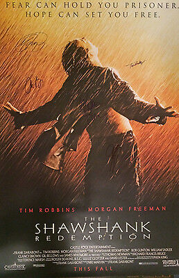 Signed Collectible Autographs SHAWSHANK REDEMPTION  Movie Poster