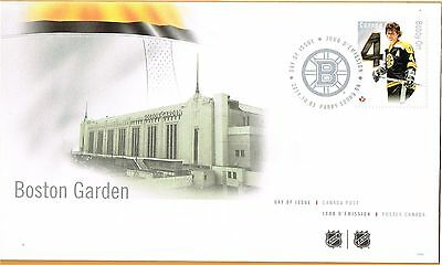 Canada Post -  Day of Issue - BOSTON GARDEN - BOBBY ORR depicted on stamp
