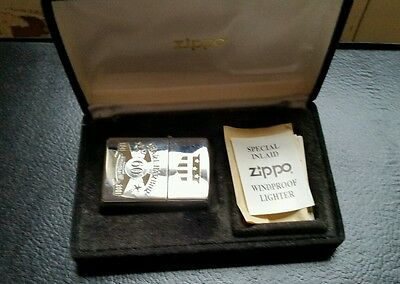 Zippo Lighter 60 Anniversary Pearl Harbor Limited 24KT Gold Inlaid Silver Plated