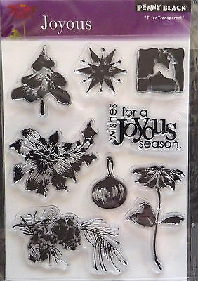 ***** Penny Black ***** Joyous ***** 8 Clearstamps  - Weihnachten - Traumhaft