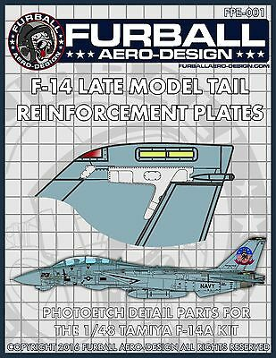 1/48 Furball Photoetch F-14 Tail Reinforcement Plates for the Tamiya Kit