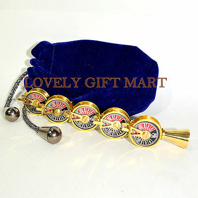 5Pcs Vintage Style Brass Telegraph Necklace Key Ring Gift