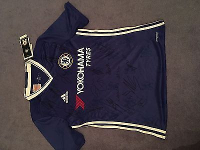 Chelsea Fc Stamford Bridge New Hand Signed By Squad 2016 2017 Football Shirt