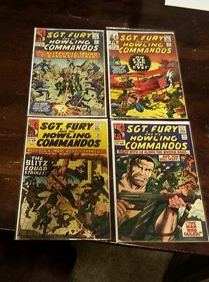 Sgt. Fury and His Howling Commandos Silver Age Comics Lot of 4. #'s 14,19,20,23