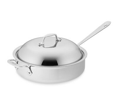 All-Clad D5 Brushed Stainless Steel 3-Qt Saute Pan with Dome lid
